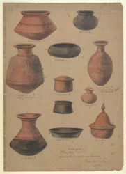 Red and black ware pottery from cairn circle graves, Chikanhalli, Jivarji and Andola, Gulbarga district